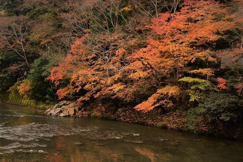 天神峡の紅葉3