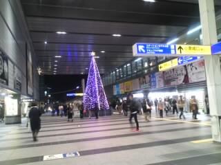 クリスマスツリー小倉駅