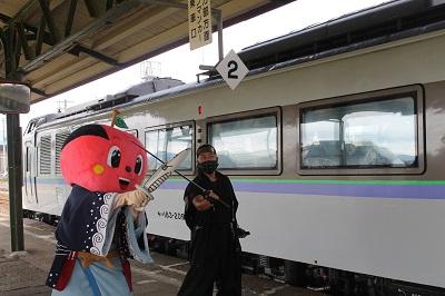 特急ニセコ号 お出迎え2016-9-4 (16)
