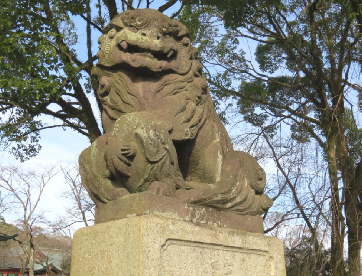 富士山隠れスポット狛犬