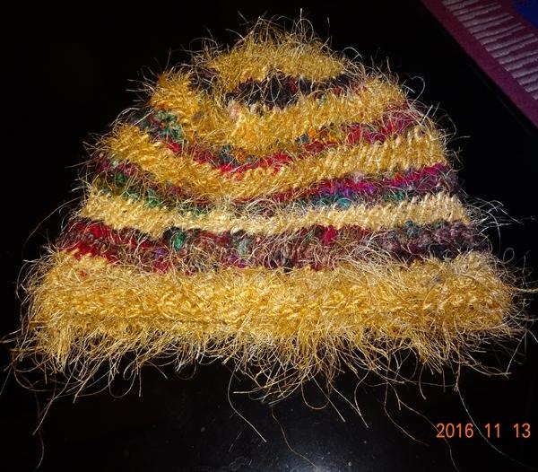 DSC07271インドシルク手作り帽子