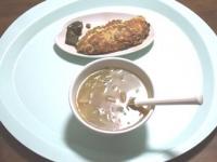 12/7 昼食 納豆入り玉子焼き、野菜スープ