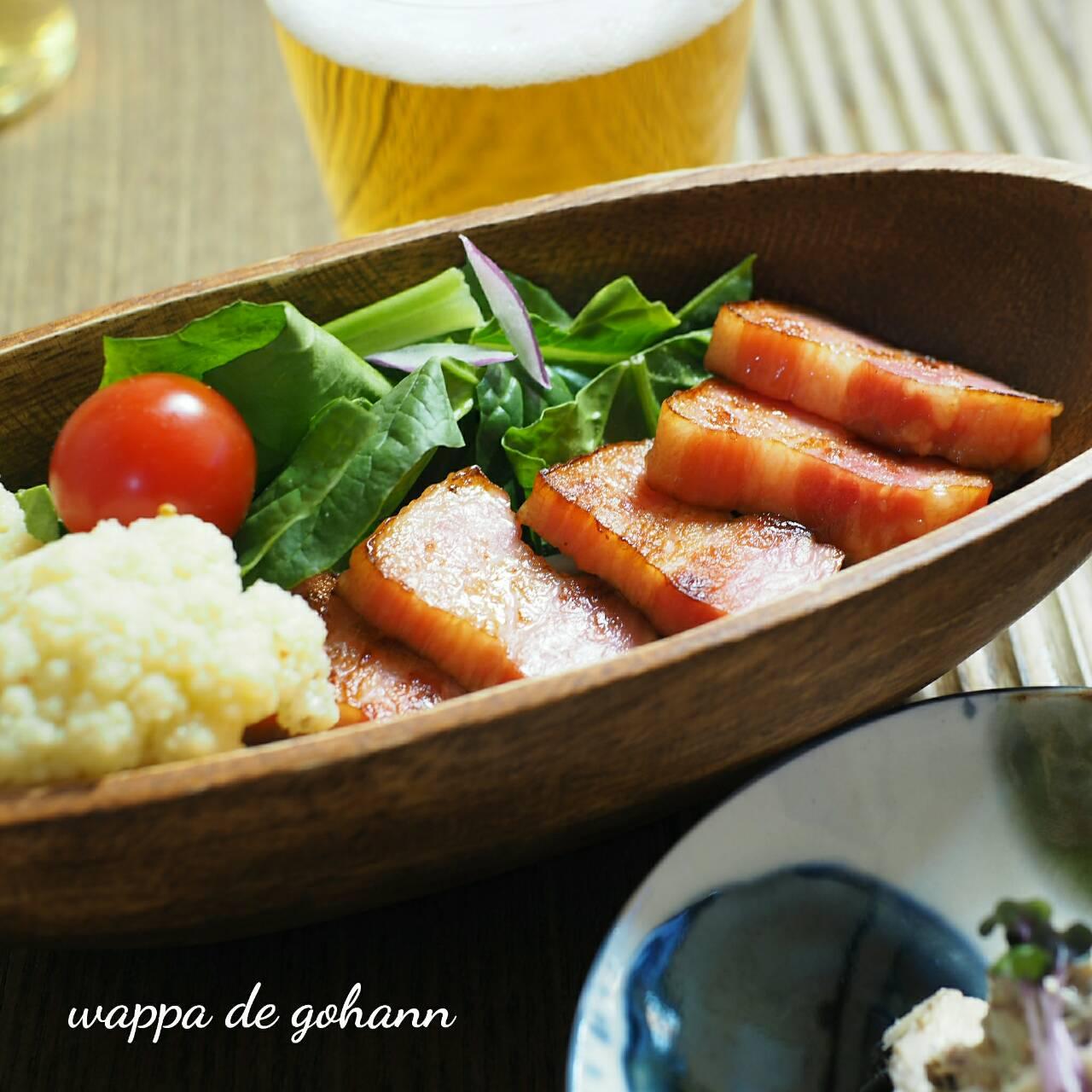 豚バラとニンニクの芽の塩レモン炒め
