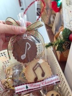 音符のクッキー袋