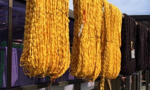 絣黄色の糸