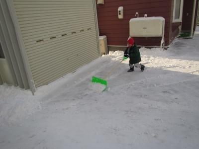 雪かき少年