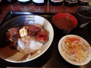 浜松町 洋食や シェ・ノブ ビフテキ丼(2016/12/12)