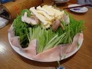 西横浜 濱のくじら屋 鯨のハリハリ鍋具材 生皮・水菜(2016/12/20)