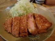 南長崎 とんかつ おさむ ロースかつ定食100g+カキフライ1個(2016/11/4)