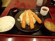 浜松町 ふくべ エビフライ定食(2016/12/5)