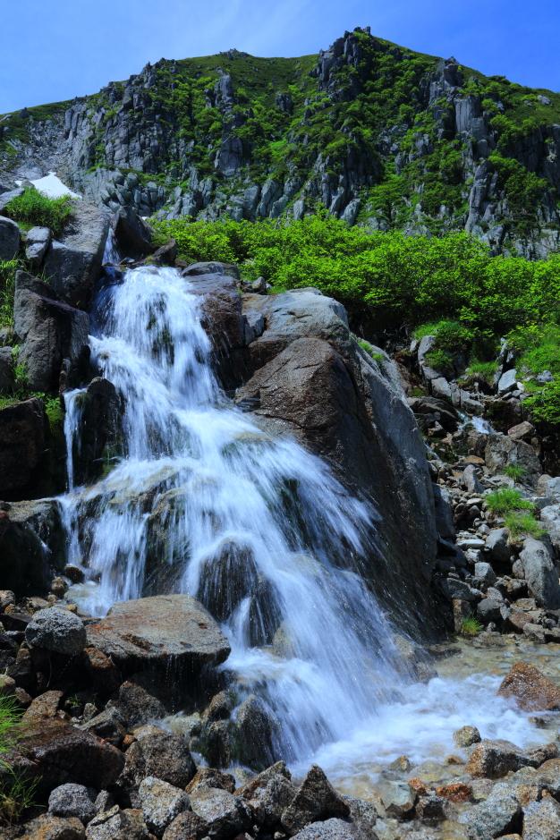 中ア黒川最源流部に位置する滝