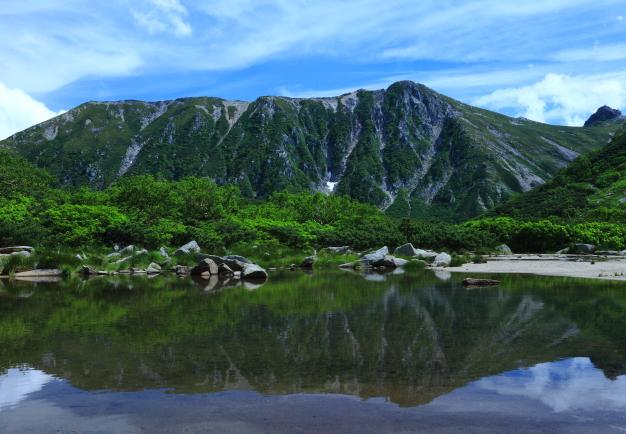 伝説の氷河湖濃ヶ池