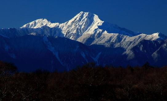 白銀の北岳