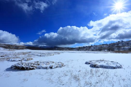 雪の積もった七島八島