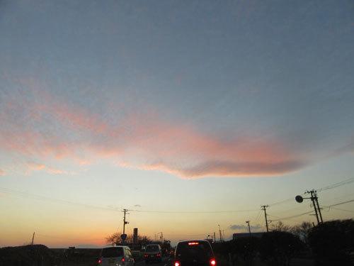 ピンクの雲