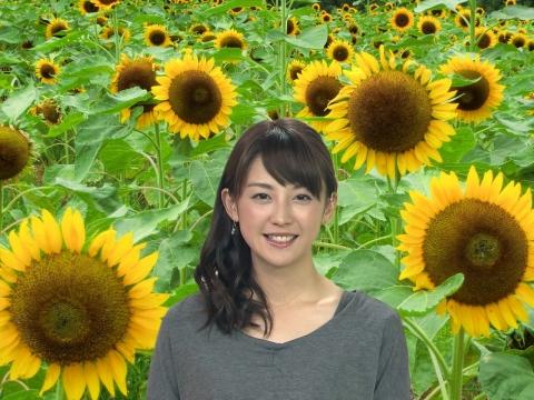宮司 愛海 ひまわり畑で