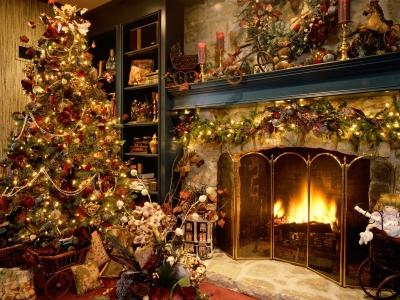 クリスマス暖炉