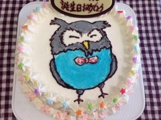 フクロウケーキにかいて
