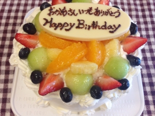 お母さんへのケーキ