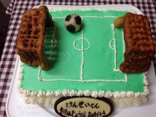 そしてサッカー場ケーキ