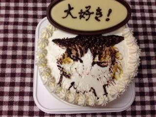 ケーキに描きました