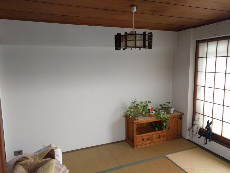 和室壁紙張り替え前
