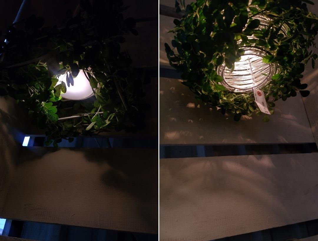 フェイクグリーンを飾ったシーリングライトその2
