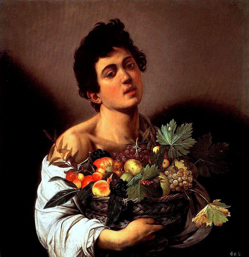 果物かごを持つ少年 カラヴァッジョ