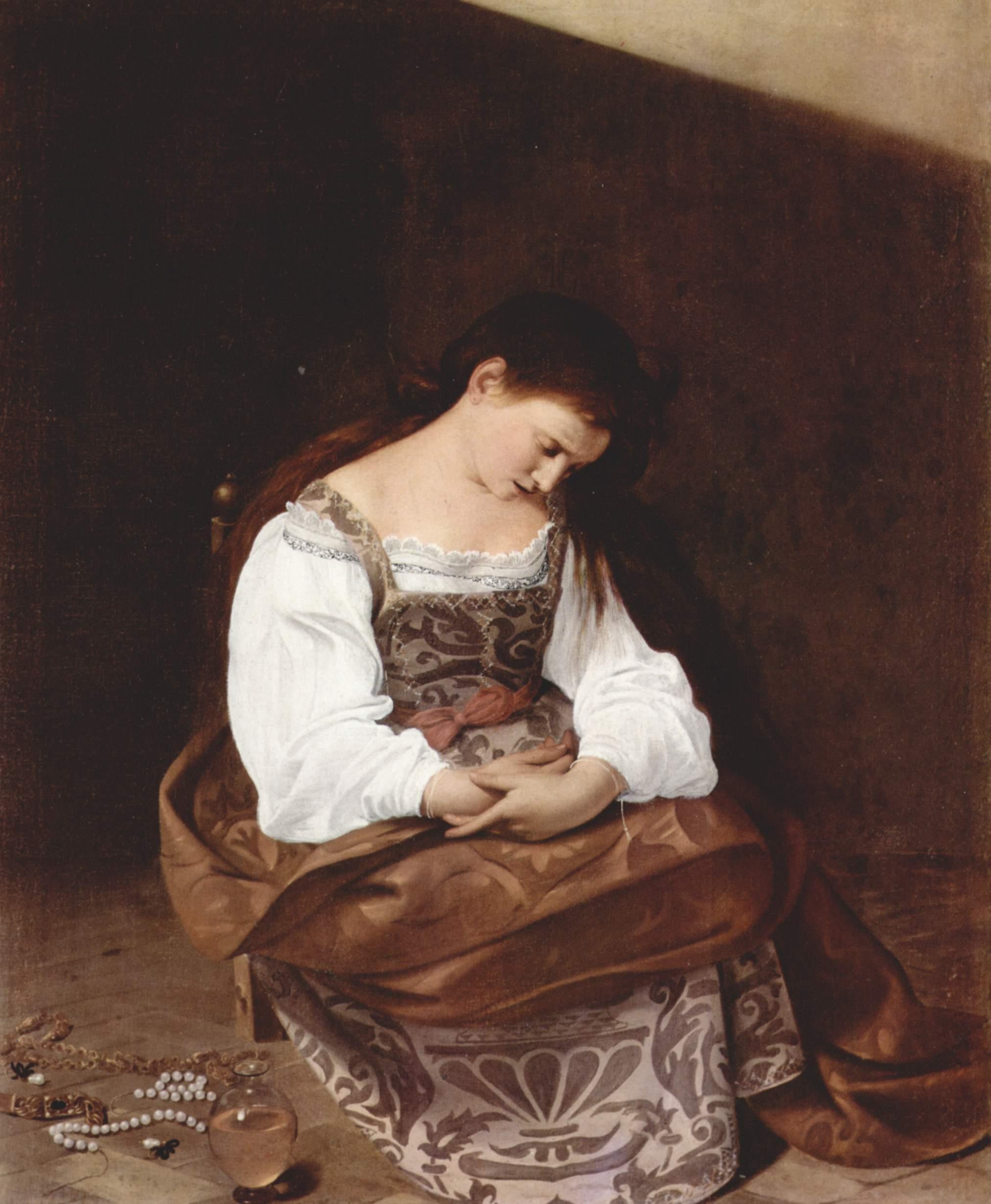 懺悔するマグダラのマリア カラヴァッジョ