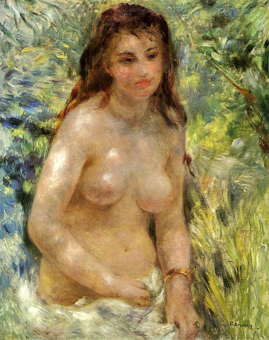 陽光の中の裸婦 アート名画館 ルノワール
