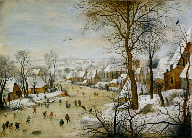鳥罠のある冬景色 ブリューゲル