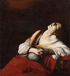 法悦のマグダラのマリア  カラヴァッジョ