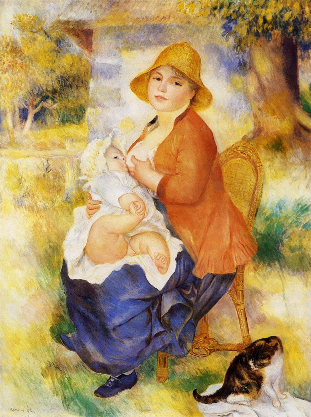 ルノワール 授乳する母親 アート名画館
