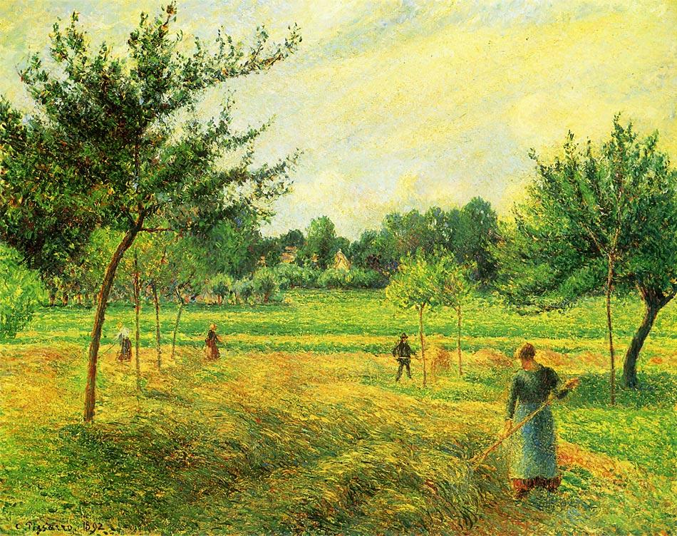 干し草の刈り入れ エラニーにて ピサロ