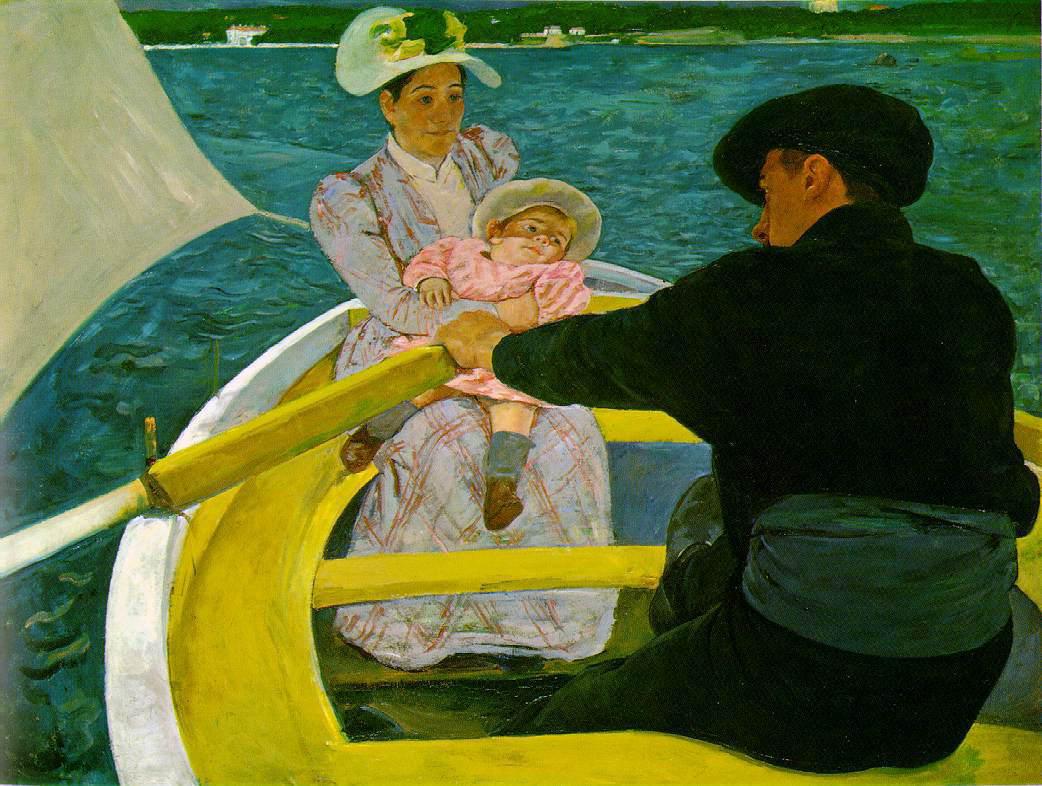 舟遊び メアリーカサット