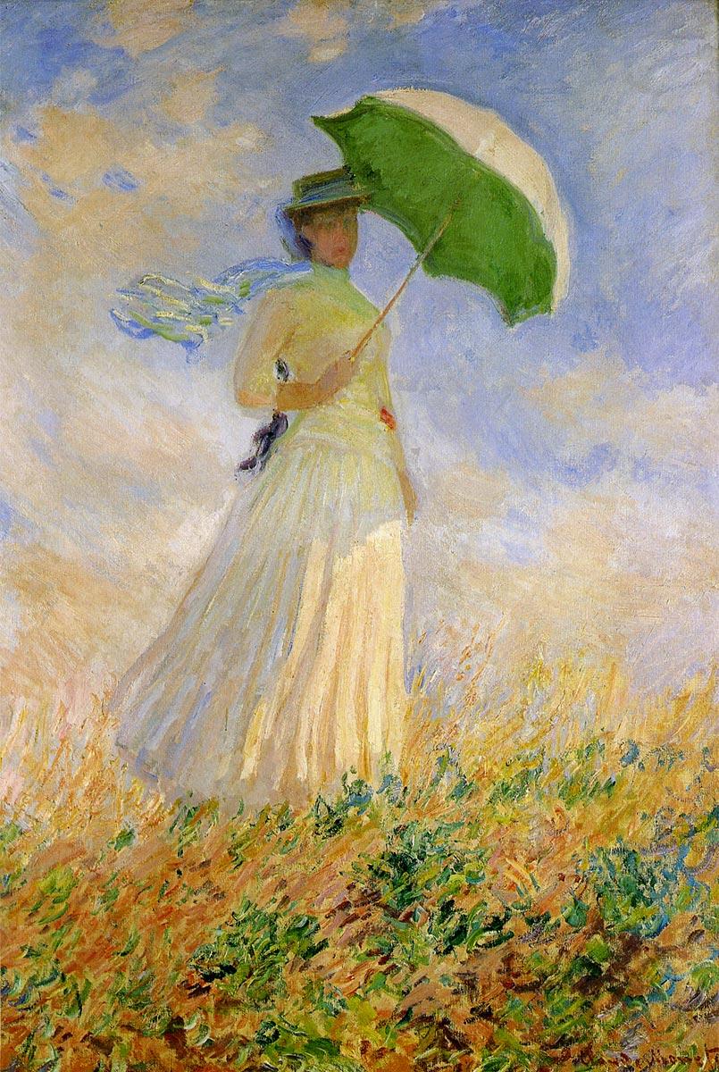 モネ 日傘をさす女