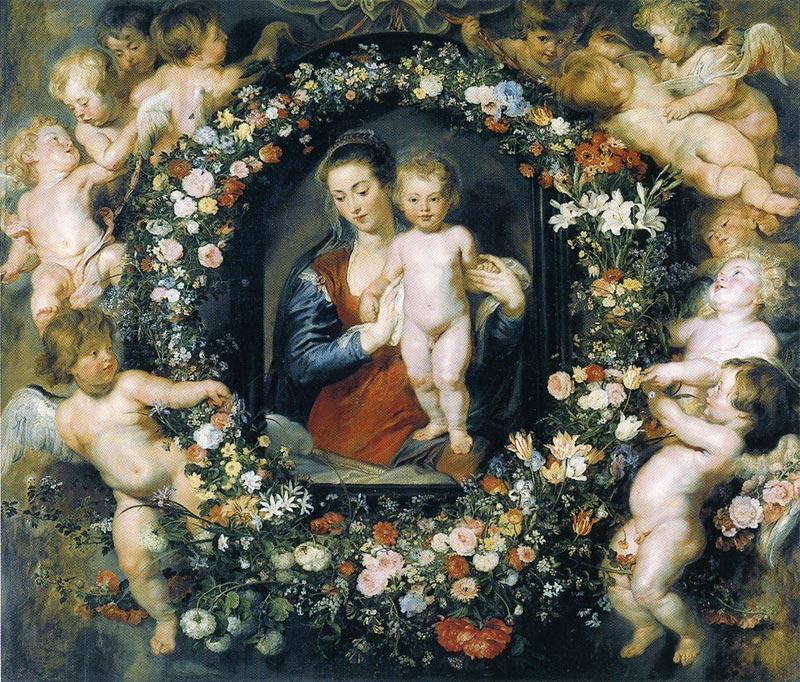 ルーベンス 花輪の聖母