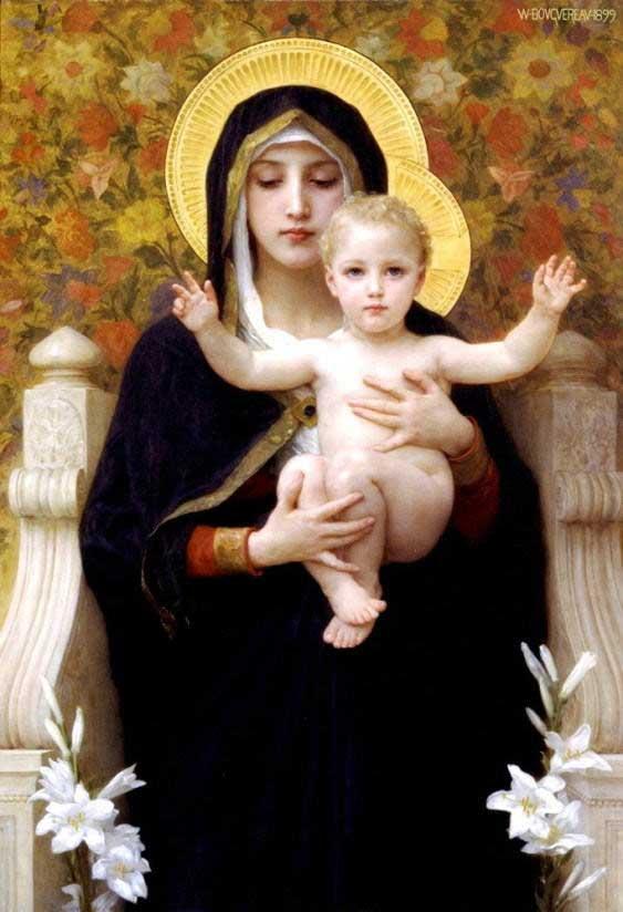 ブグロー 百合の聖母マリア