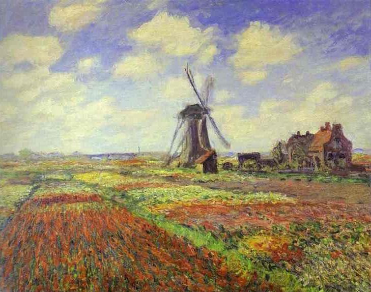 チューリップ畑・オランダ モネ