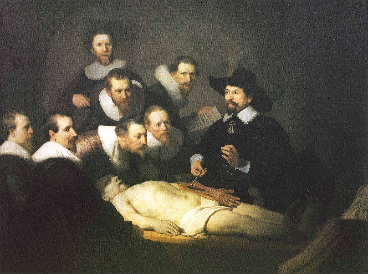 テュルプ博士の解剖学講義 レンブラント
