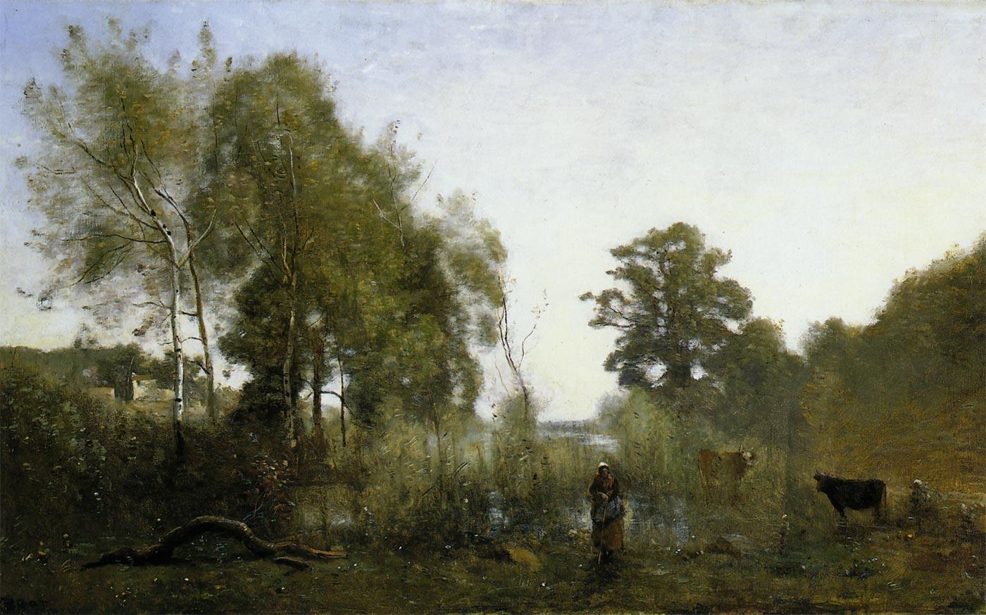 ヴィル・ダヴレーの池 コロー