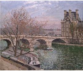 ロワイヤル橋とフロール館、曇りピサロ