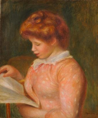 読書する女 ルノワール