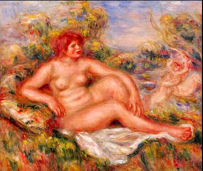 ルノワール 三甲美術館 坐せる浴女
