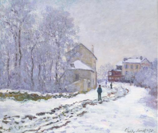 雪のアルジャントゥイユ モネ
