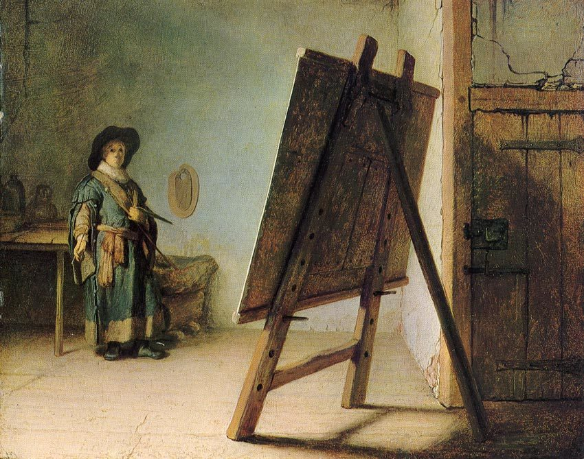 レンブラント アトリエの画家