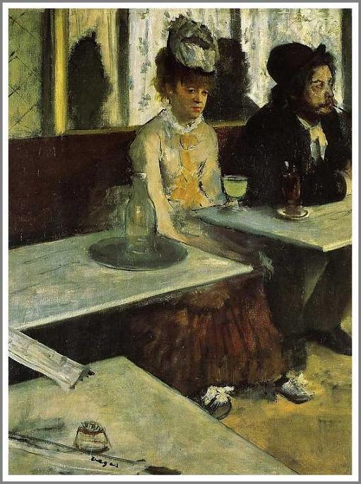 カフェにて アブサン ドガ