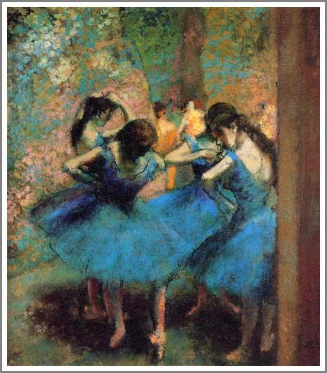 ドガ 青い踊り子たち