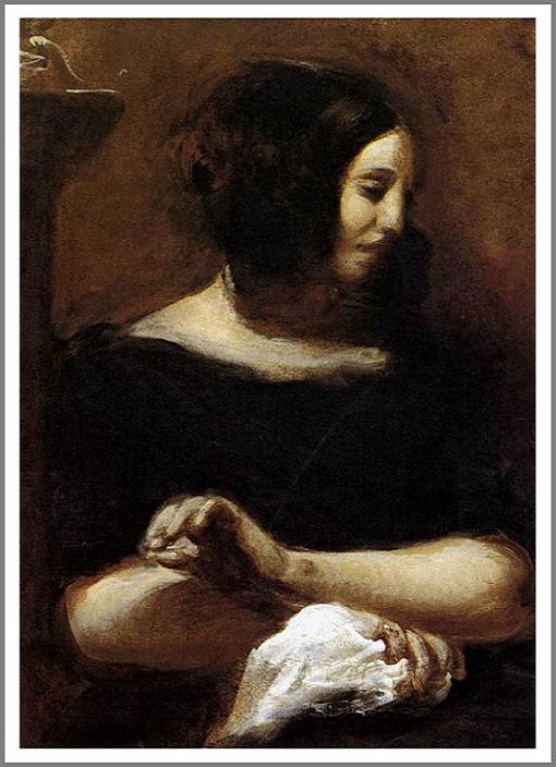 ジョルジュ・サンドの肖像 ドラクロワ