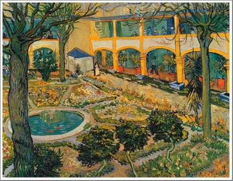療養院の中庭 ゴッホ
